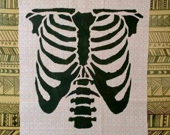 Pink Ribcage Back Patch