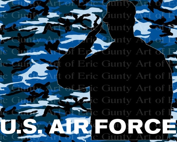 U.S. Air Force Military Camo Birthday - Edible Cake and Cupcake Topper For Birthday's and Parties! - D21933