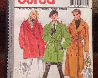 Vintage womans coat/jacket pattern 3639/ Burda uncut pattern with instructions ~ translated in English, Francais & Espanol