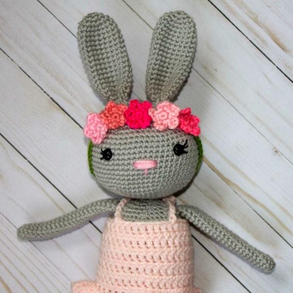 Crochet Ballerina Bunny Pattern PATTERN ONLY Amigurumi Bunny