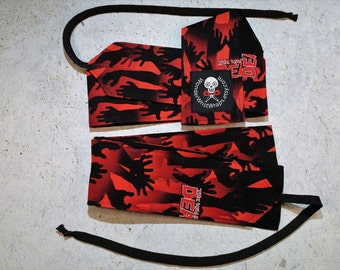 Zombie Hands,  Walking Dead,Wrist Wraps, WOD, Weightlifting, Athletic