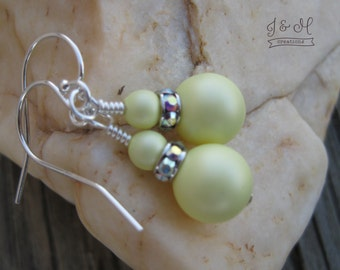 Pastel Yellow Swarovski Pearls