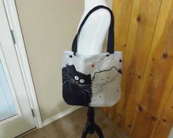 Cotton & Linen Blend Tote Bag