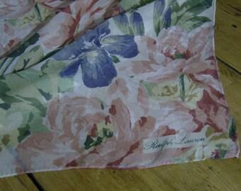 Vintage Ralph Lauren Floral Scarf