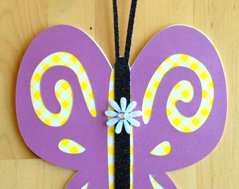 Gorgeous Handmade Silhouetted Butterfly Card!
