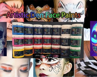 4 x 250ml Face Paints Face & Body Paints    Non Toxic Water Based