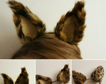 Leopard Ears Headband, Faux Fur Ears, Cosplay Animal Ears