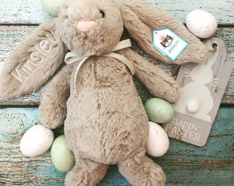 MEDIUM Personalized Jellycat Bunny Rabbit, Bunny Rabbit, Stuffed Animal Bunny, Personalized Gift, Monogrammed Bunny, Personalized Bunny