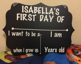 First Day of School Personalized Chalkboard