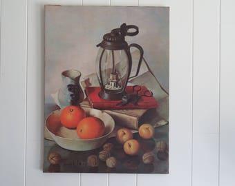 Original Still Life Oil on Canvas Painting by Hank Roy