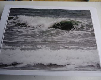 Original Photographic Print Greetings Card - Rolling Waves