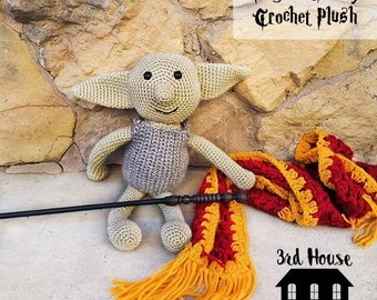 Magical Dobby Crochet Plush - Harry Potter inspired Dobby the House Elf - Dobby amigurumi