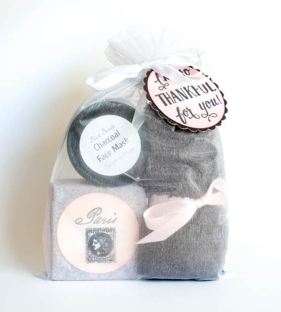 "BLACK BEAUTY Set | Charcoal Facial Bar, Mask and GREY Bamboo Washcloth (14""x14"") 