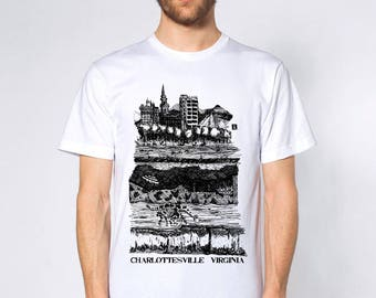 KillerBeeMoto: Charlottesville Virginia Underground Pen Sketch T-Shirt