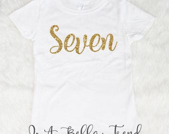 Seven Birthday Shirt Seven Shirt 7th Birthday Shirt Girl 7 Birthday Shirt Birthday Girl Shirt 7 Year Old Birthday Shirt Girl Birthday Shirt
