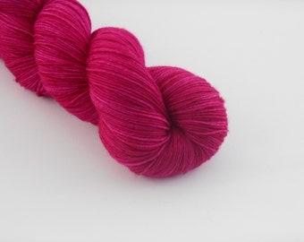 LOVE SOCK,    Fuchsia, merino nylon sock yarn,100g