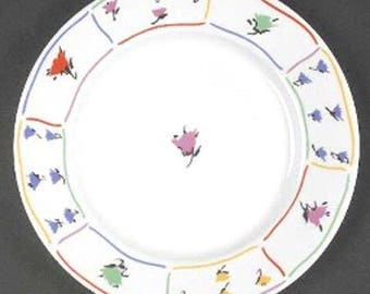 1987 Block Spal Spring Fields Salad Plate 7 7/8 Inch Diameter