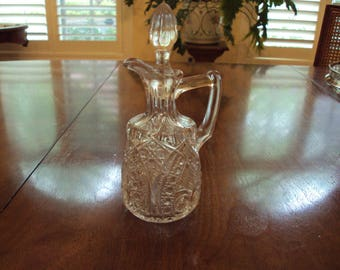 Cruet- Pressed Glass