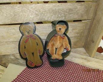 """Vintage F.A.O. FAO Swartz Plaid Teddy Bear in Presentation Box Plush 7"""" Small Bear"""