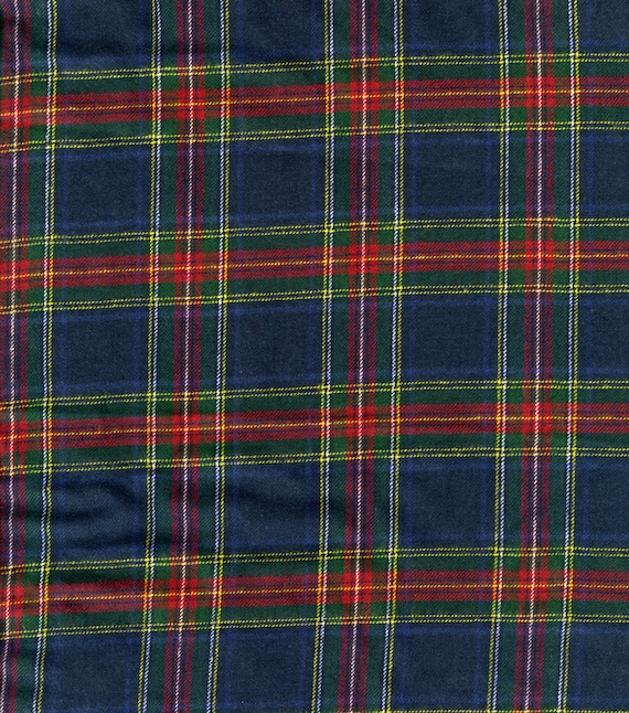 Fabric/flannel fabric/bulk flannel fabric/royal stewart plaid flannel/flannel shirting material/bulk fabric/fabric by the yard