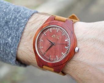 Wood Watch, Minimalist Watch, Engraved Wooden Watch, Gift for Him, Anniversary Gift, Wedding Gift, Mens Wooden Watch, Wrist Watch, Wood Gift