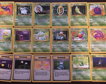 Grass Pokemon 26 Card Lot-Rare Hologram Ledian+2 Oddish+Trainers+Energy