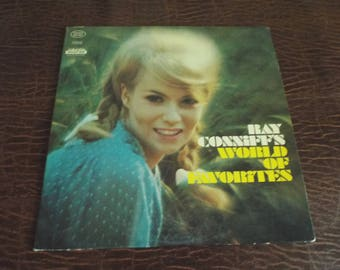Ray Conniffs World of Favorites Album Vinyl 33 Gift under 10 USED Excellent Condition Vintage Record
