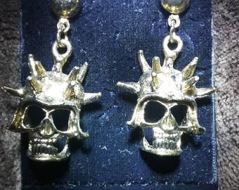 Vintage skull punk earrings
