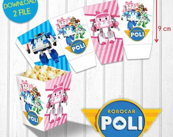 Robocar Poli - Popcorn box
