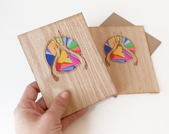 Greeting Card Set, Design Cards, Blank Greeting Cards , Art Greeting Cards, Tools Greeting Cards, Father's Day Cards, Wood Card, Art Card