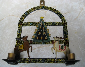Vintage AMISH CHRISTMAS CANDAL Holder