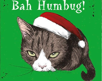 Bah humbug cat! For the grumpy person in your life