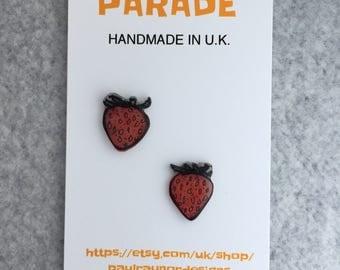 Strawberry earrings, Strawberry earstuds, Fruit jewellery, Parade Jewellery
