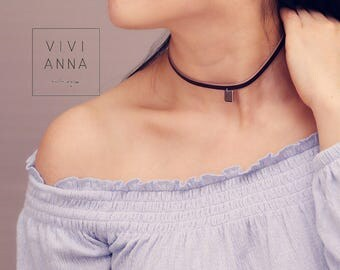 Cute be IV - leather collar Choker | K443