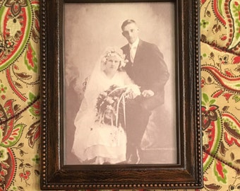 "Deluxe Antique Frame for 4"" x 6"" Print or Photo"