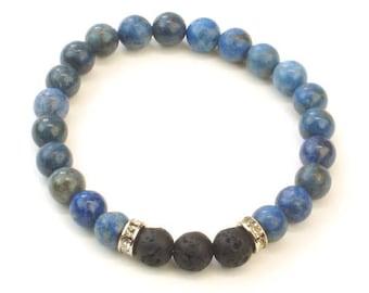 Lava Beads Bracelet, Diffuser Bracelet, Essential oil Bracelet, stacking bracelet, lava Rock Bracelet, mens beaded bracelet, Yoga bracelet