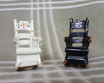 Vintage Rocking Chairs Figural Salt & Pepper Shakers