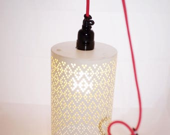 Stippled Metal Pendant Lamp