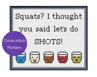 Let's Do Shots Cross Stitch Pattern