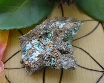 Aurichalcite Genuine Natural Raw Rough Cut Nugget UnDrilled - NO Hole. Nevada. #8173