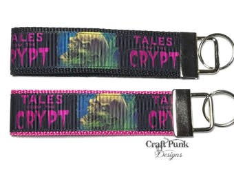Tales from the Crypt Keychain, Crypt Keeper, Tales from the Crypt, Keychain Wristlet, Cult Classic, Keychain, Horror, Horror Keychain, Goth