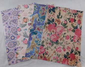 100 10x13 Designer Paisley Rose Rabbit Purple Poly Mailer Self Seal Adhesive Plastic Flat Envelope Water Resistant Tear Proof Lightweight