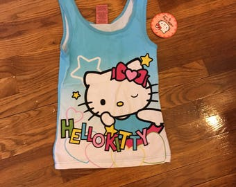 Hello kitty blue tank top