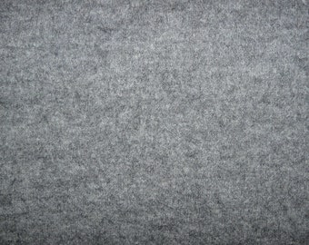 Fabric - 100% boiled wool - grey
