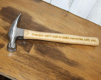 Hammer/Engraved/Personalized/Father's Day Gift/Grandpa/Male Gift