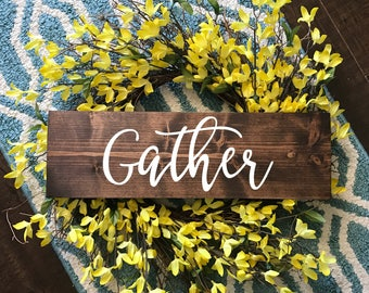 Gather Wood Sign | Wood Sign | Gather | Wood Sign | Home Decor | Wedding Gift | New Home | Kitchen Decor | Gift | Dining Room Sign |