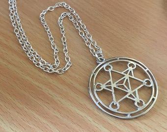 Merkaba Pendant Necklace Yoga Necklace Merkabah Jewelry Meditation Jewelry