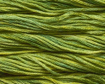 Hand Dyed Cotton Embroidery Floss - Sampler Threads - Embroidery Floss - Meadow - Hand Dyed Embroidery Thread for Tatting, Sewing, Crewel