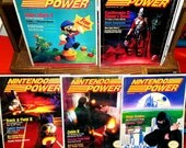 Reserved for Brian Dunne Retro Vintage NINTENDO POWER Magazines - Includes Very 1st Issue, #1 through #5, 1988  Complete w/Posters