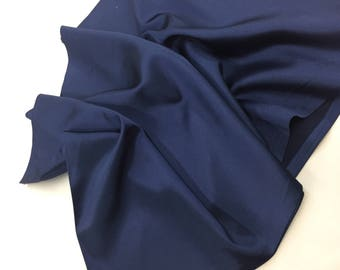 Navy Blue 58 inch 2 way stretch charmeuse satin-super soft silky satin-wedding-bridal-prom-nightgown-sold by the yard.